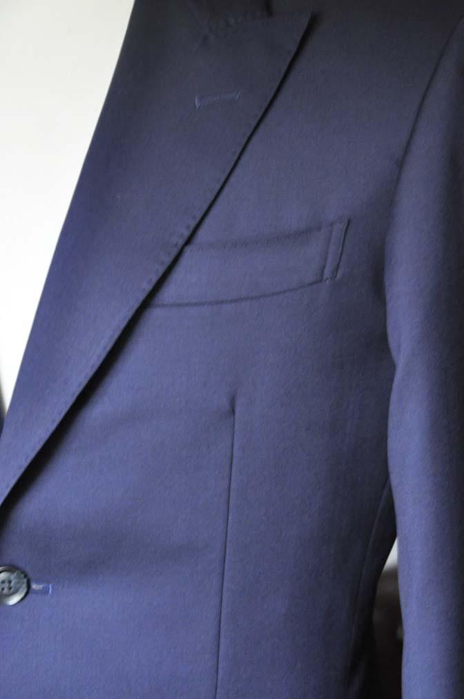 DSC0229-2 お客様のスーツの紹介- Biellesi 無地ネイビースーツ-