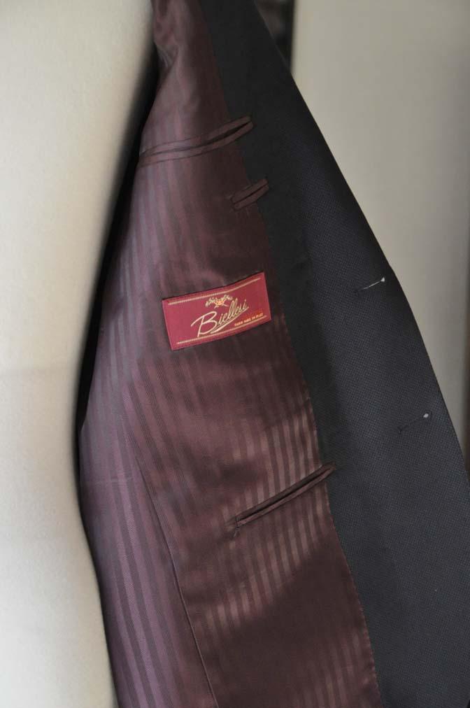 DSC0233-1 お客様のスーツの紹介- Biellesi ネイビーバーズアイ- 名古屋の完全予約制オーダースーツ専門店DEFFERT