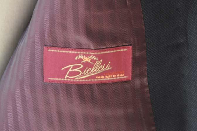 DSC0234-1 お客様のスーツの紹介- Biellesi ネイビーバーズアイ-