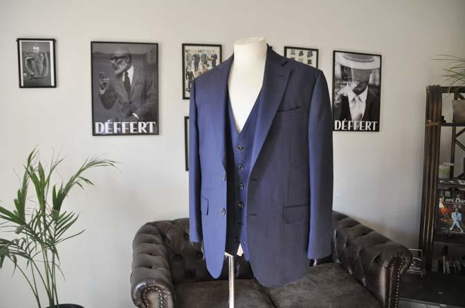 DSC0237-1 お客様のスーツの紹介- Biellesi ネイビーバーズアイスリーピース-