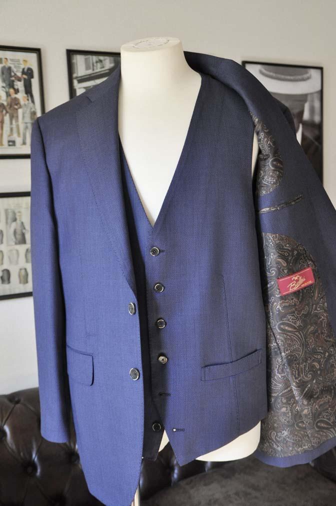 DSC0238-1 お客様のスーツの紹介- Biellesi ネイビーバーズアイスリーピース-