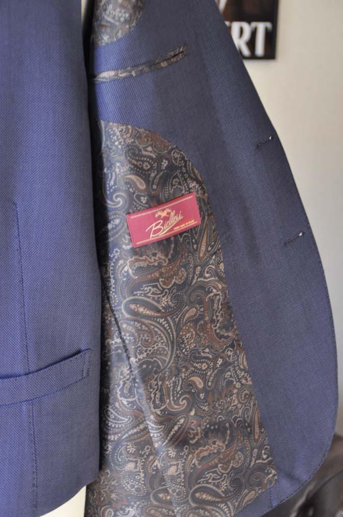 DSC0239-1 お客様のスーツの紹介- Biellesi ネイビーバーズアイスリーピース-