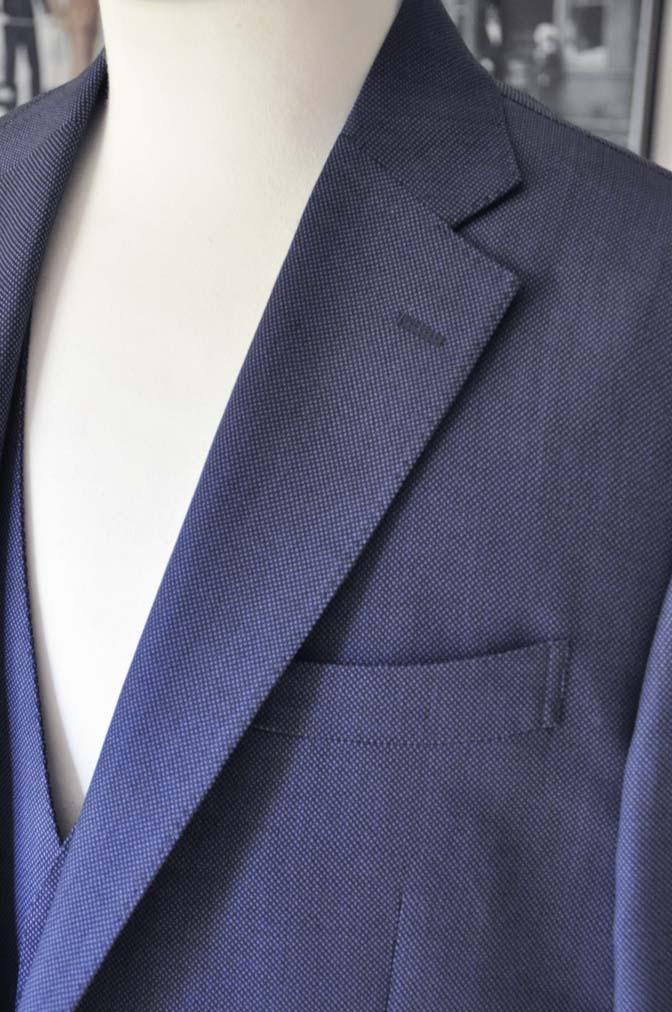 DSC0241-1 お客様のスーツの紹介- Biellesi ネイビーバーズアイスリーピース-