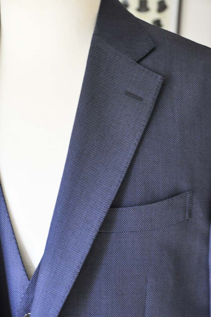 DSC0242-1 お客様のスーツの紹介- Biellesi ネイビーバーズアイスリーピース-