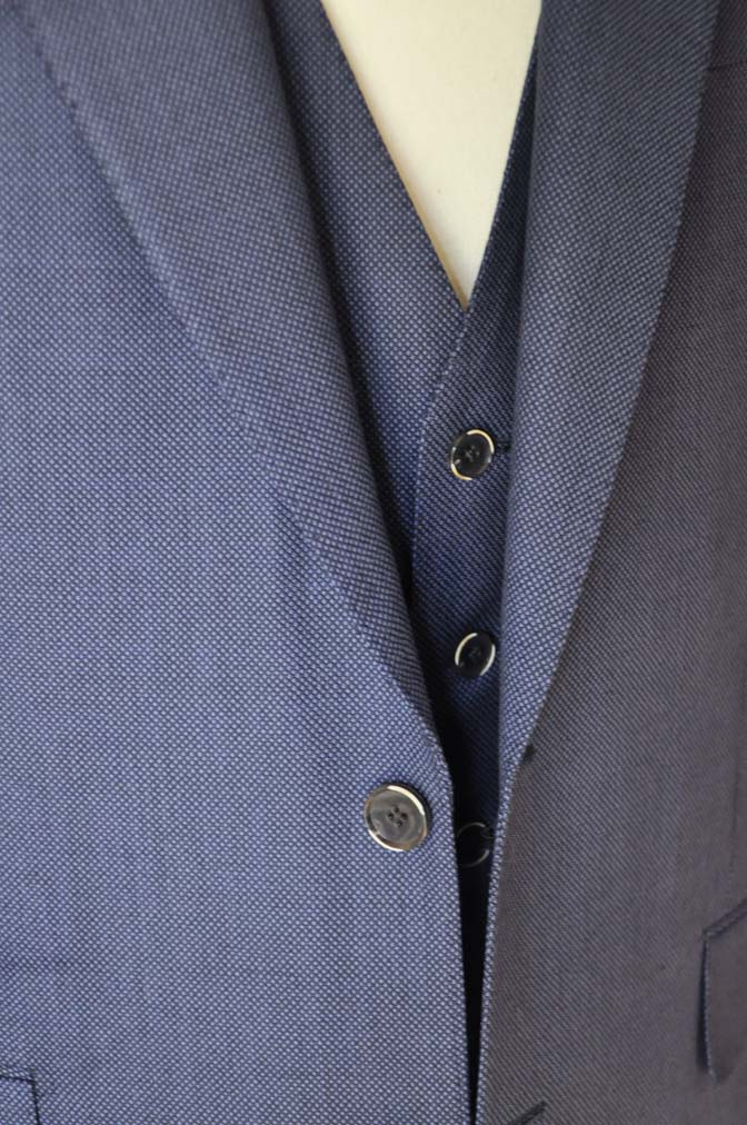 DSC0244-1 お客様のスーツの紹介- Biellesi ネイビーバーズアイスリーピース-