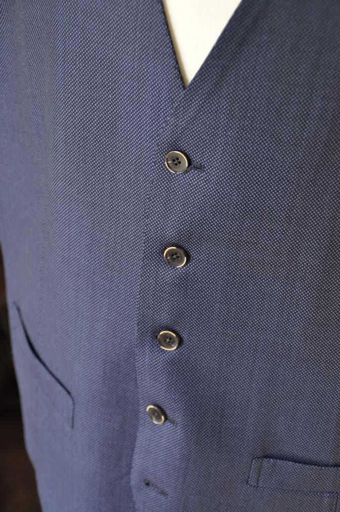 DSC0247 お客様のスーツの紹介- Biellesi ネイビーバーズアイスリーピース-
