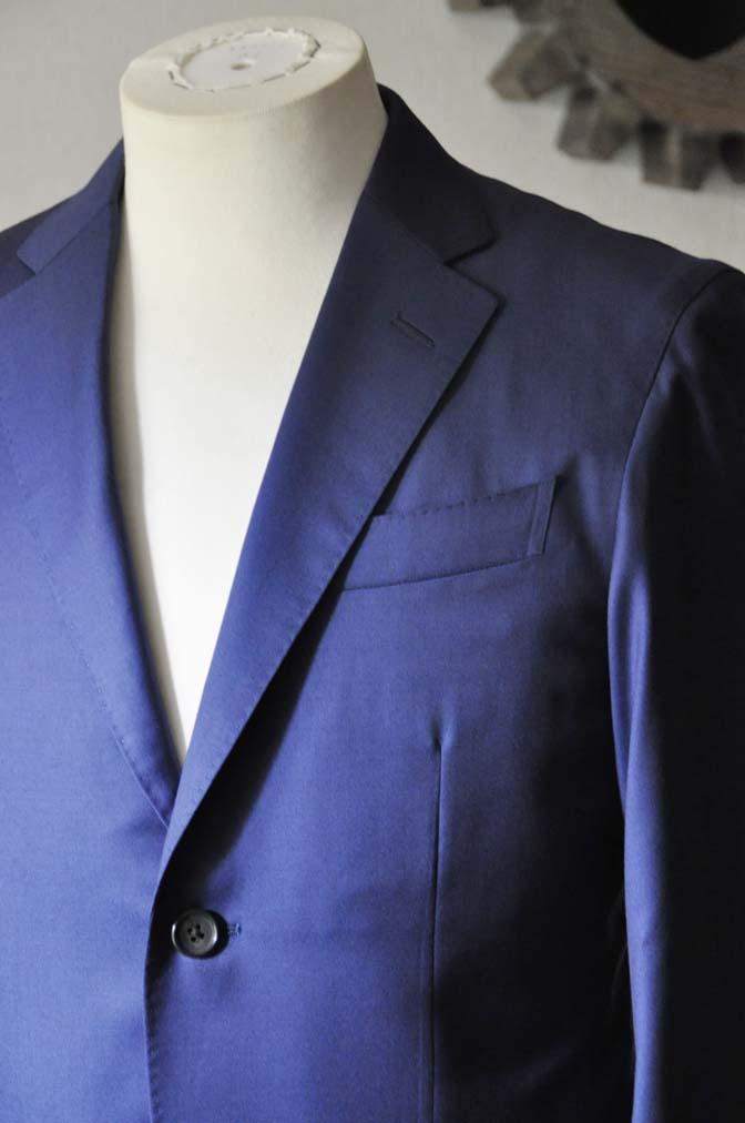 DSC0250-1 お客様のスーツの紹介- Biellesi 無地ネイビースーツ-