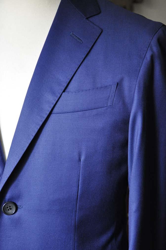 DSC0253-1 お客様のスーツの紹介- Biellesi 無地ネイビースーツ-
