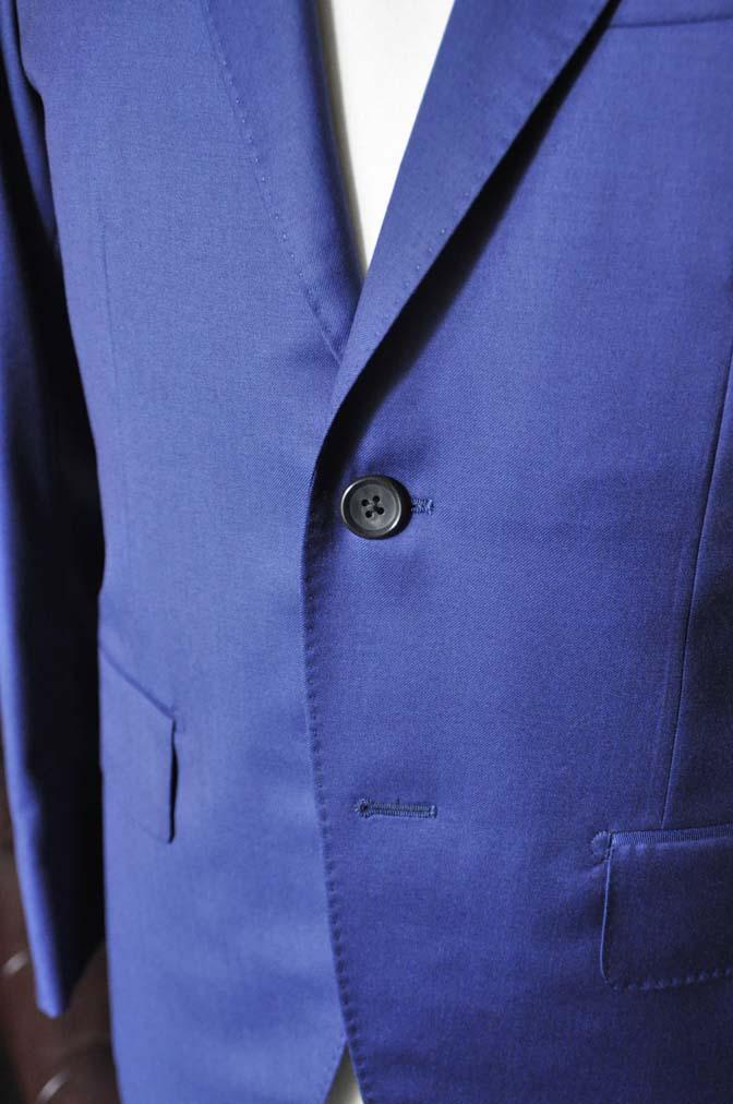 DSC0254-1 お客様のスーツの紹介- Biellesi 無地ネイビースーツ-