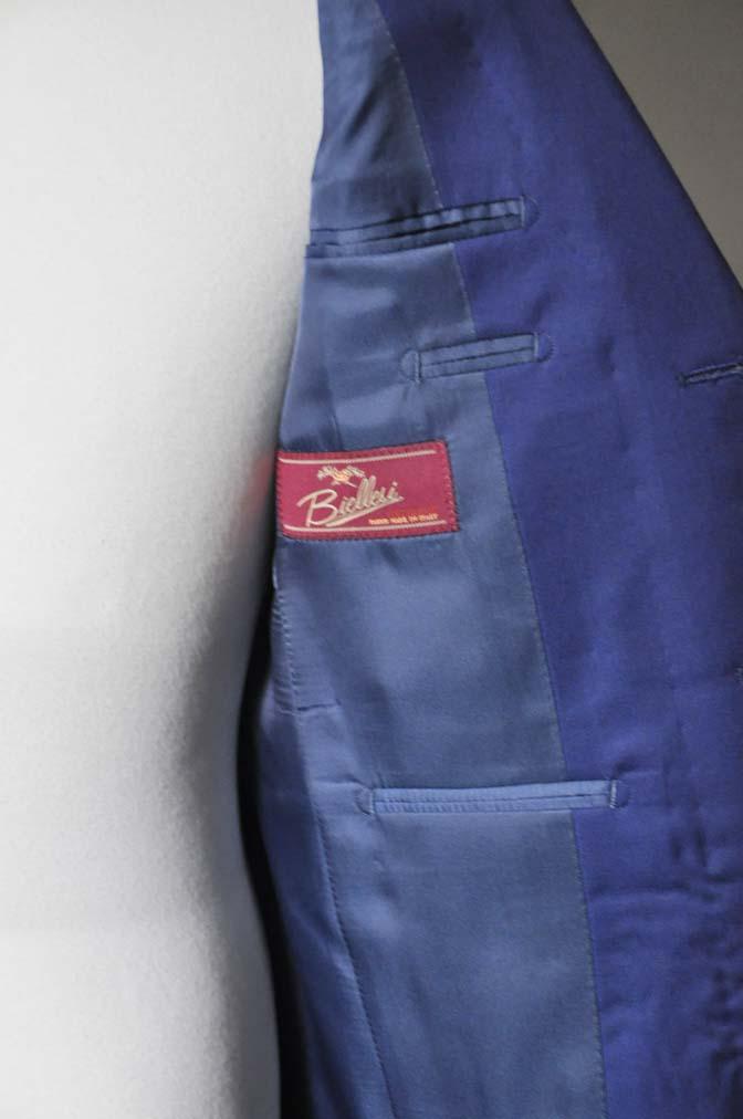 DSC0258-1 お客様のスーツの紹介- Biellesi 無地ネイビースーツ-