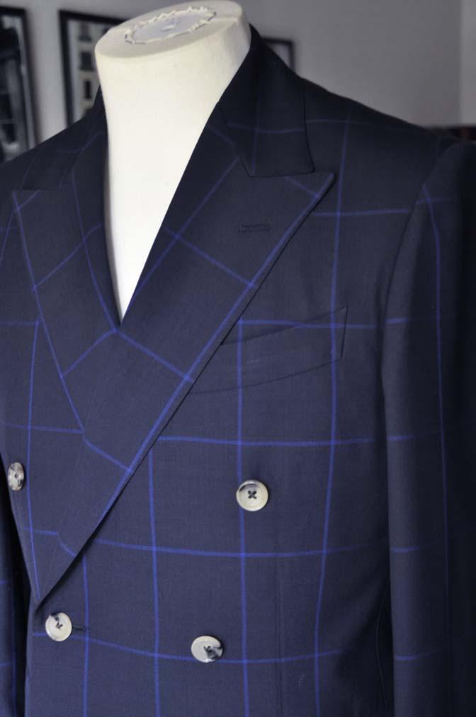 DSC02652 お客様のスーツの紹介-DARROW DALE ネイビーウィンドペン ダブルスーツ-