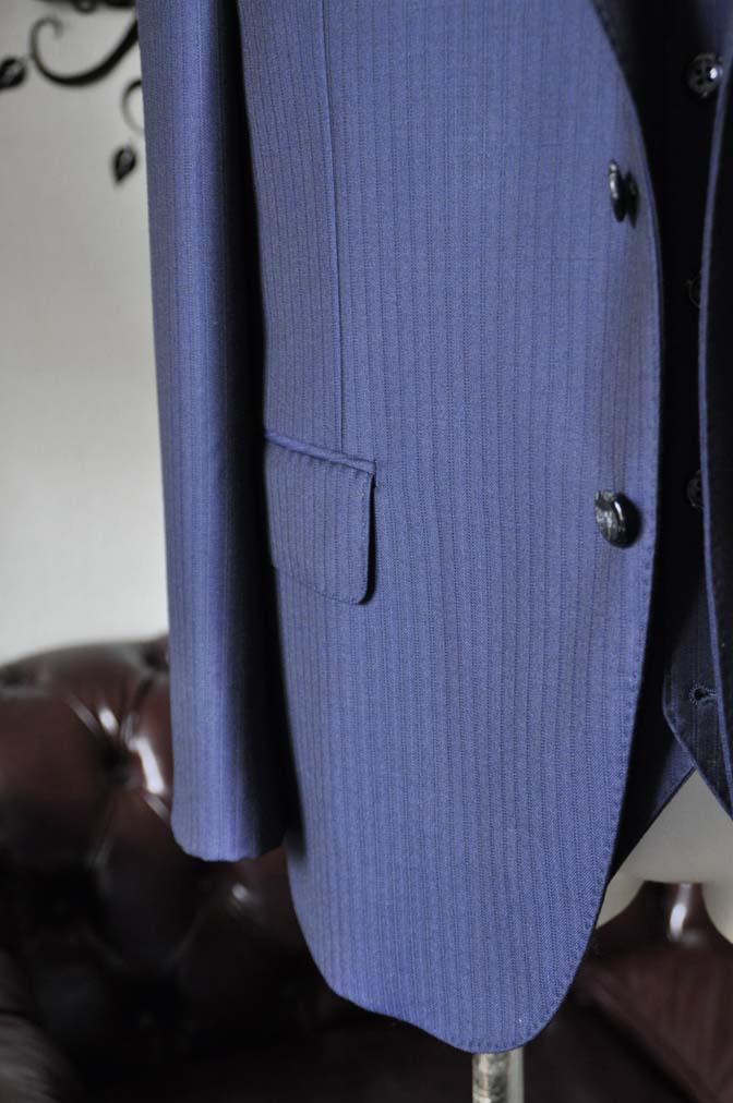DSC0267-2 お客様のスーツの紹介-Ermenegild Zegnaネイビーストライプ スリーピース-