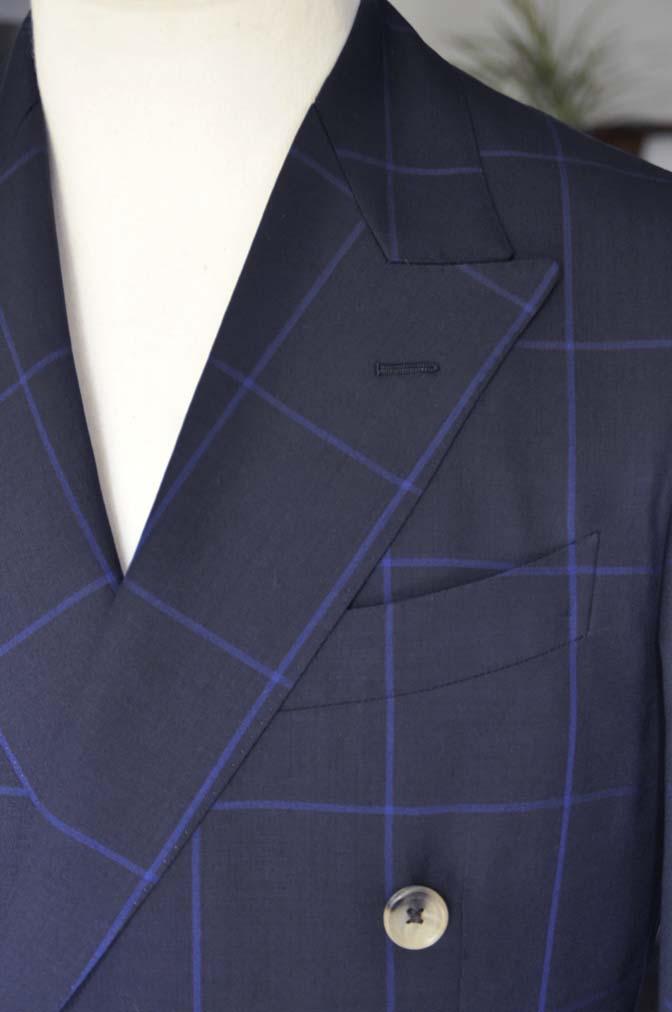DSC02671 お客様のスーツの紹介-DARROW DALE ネイビーウィンドペン ダブルスーツ-