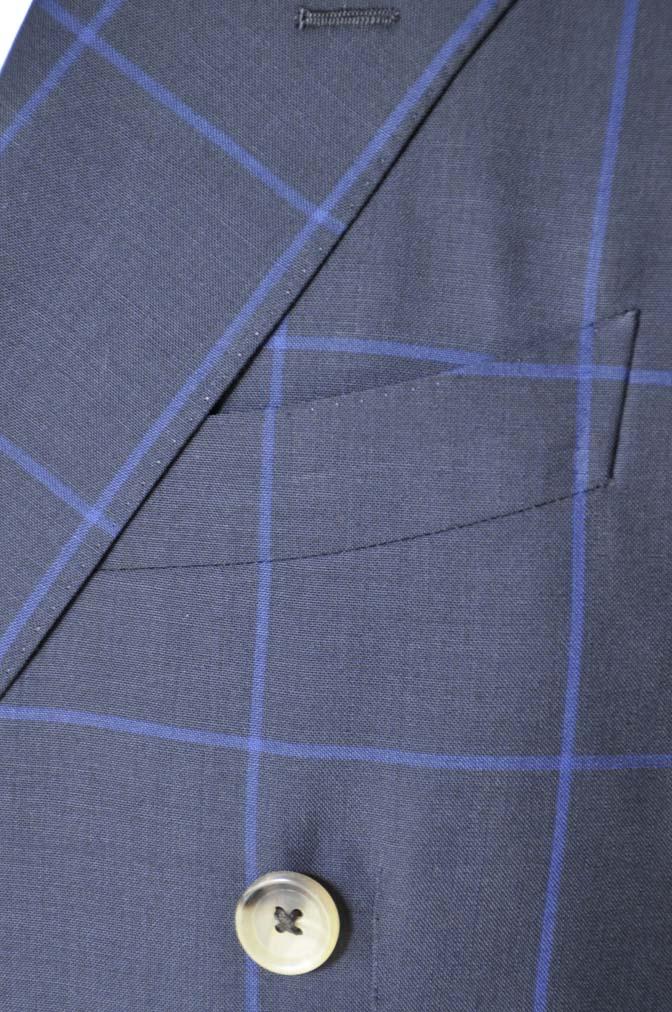 DSC02691 お客様のスーツの紹介-DARROW DALE ネイビーウィンドペン ダブルスーツ-