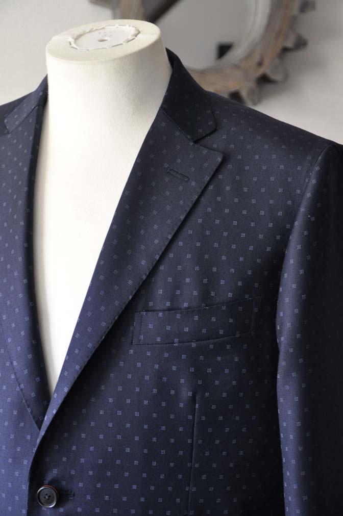 DSC0270-1 お客様のスーツの紹介- Canonico ネイビースーツ-