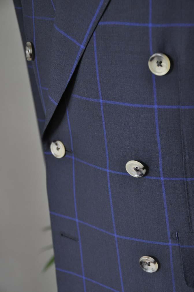DSC0272 お客様のスーツの紹介-DARROW DALE ネイビーウィンドペン ダブルスーツ-
