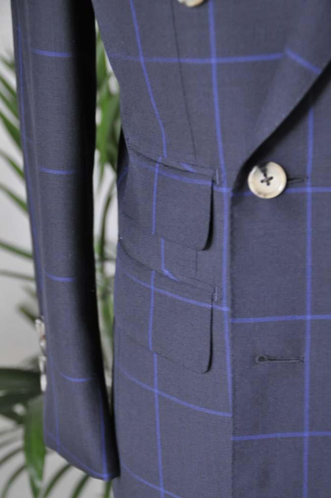 DSC0273 お客様のスーツの紹介-DARROW DALE ネイビーウィンドペン ダブルスーツ-