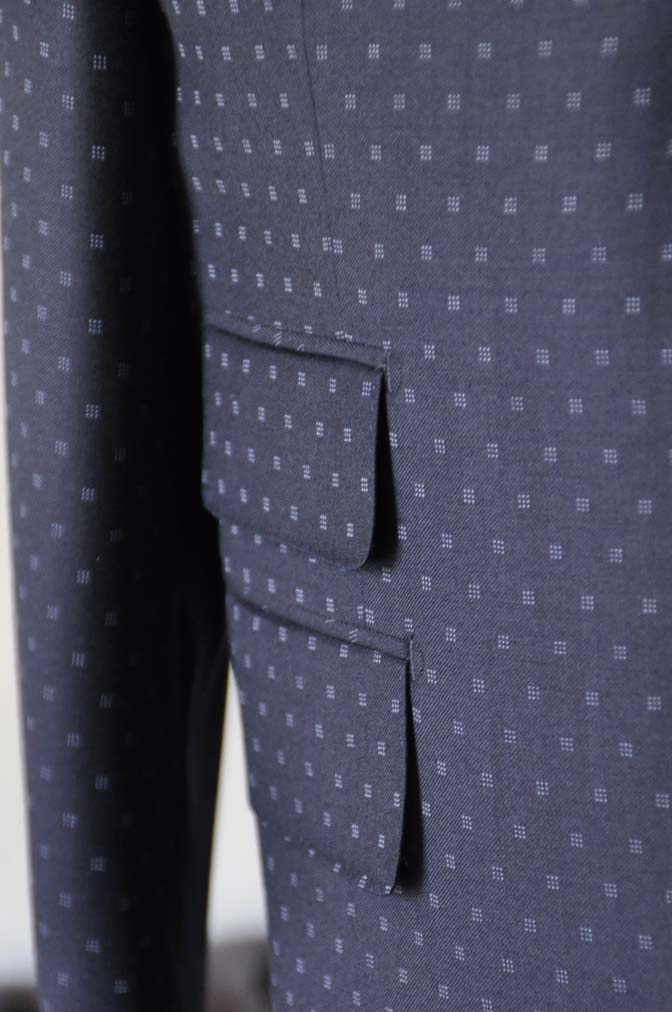 DSC0274-1 お客様のスーツの紹介- Canonico ネイビースーツ-