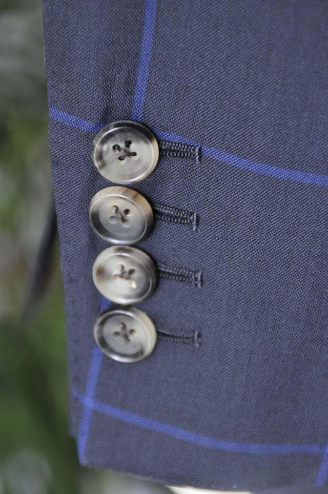 DSC02741 お客様のスーツの紹介-DARROW DALE ネイビーウィンドペン ダブルスーツ-