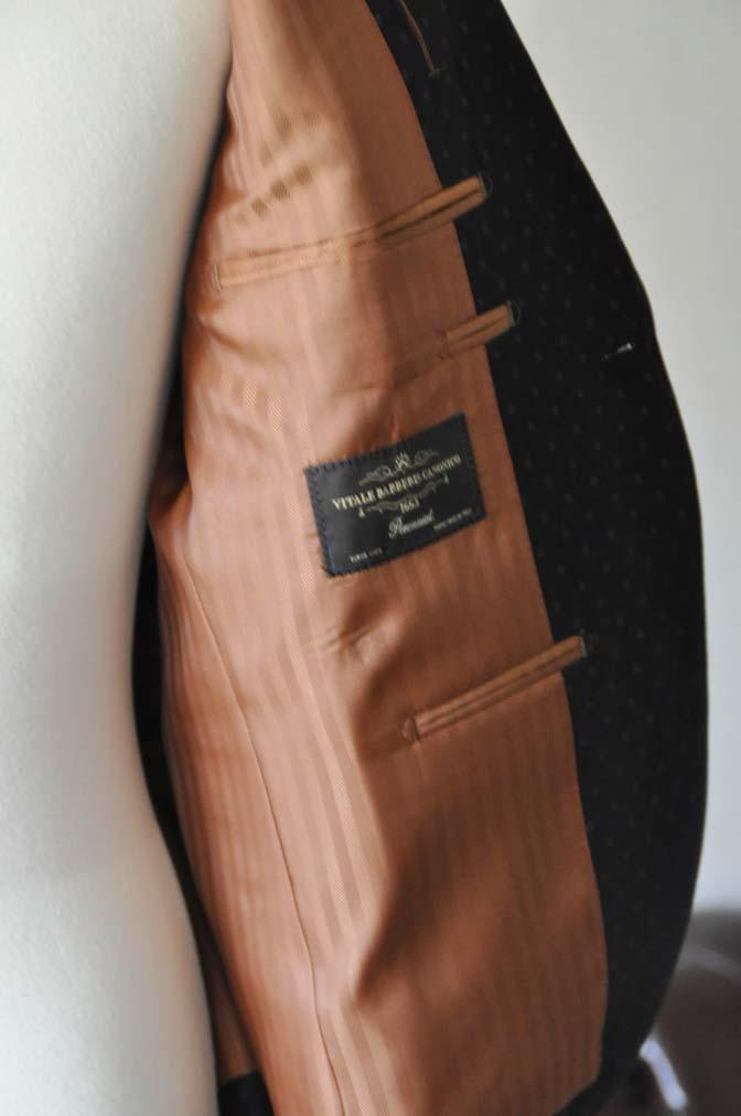 DSC0277-1 お客様のスーツの紹介- Canonico ネイビースーツ-