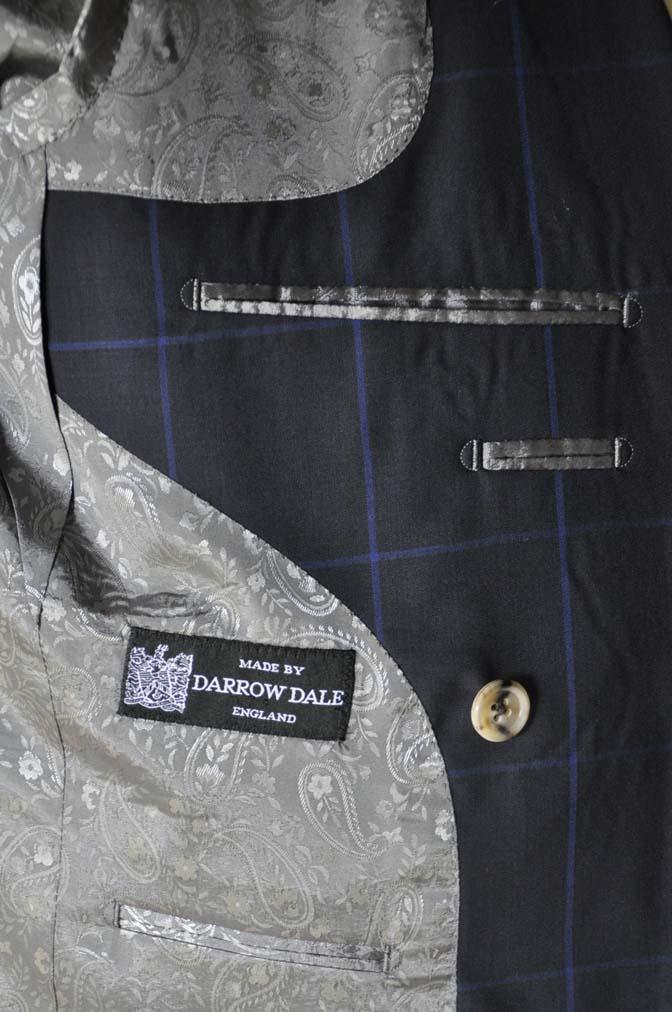 DSC02771 お客様のスーツの紹介-DARROW DALE ネイビーウィンドペン ダブルスーツ-