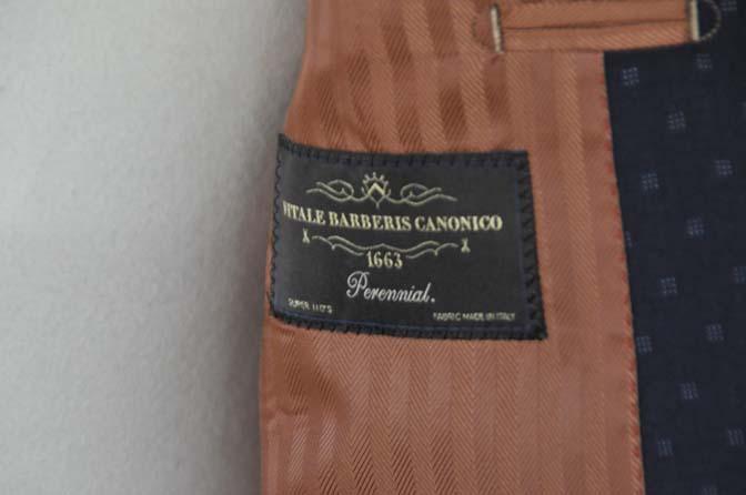DSC0278-1 お客様のスーツの紹介- Canonico ネイビースーツ-