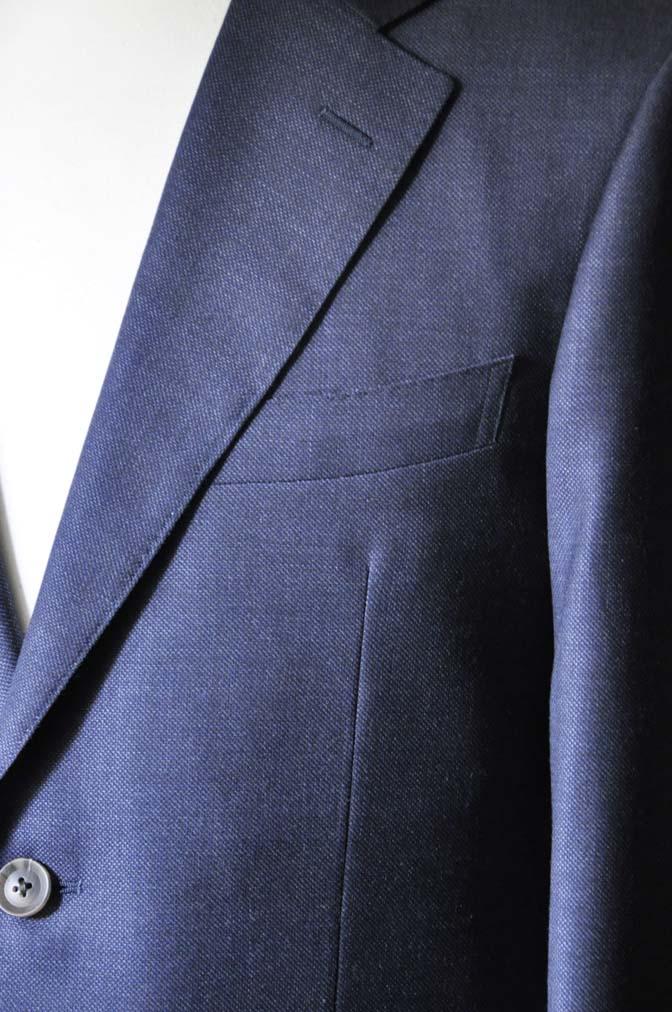 DSC0279-1 お客様のスーツの紹介- Biellesi 無地ネイビースーツ-