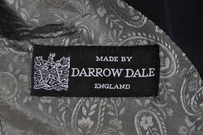 DSC02791 お客様のスーツの紹介-DARROW DALE ネイビーウィンドペン ダブルスーツ-