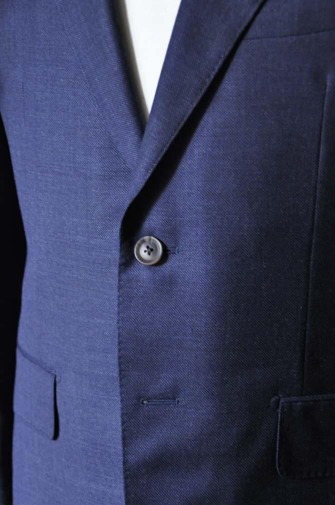 DSC0280-1 お客様のスーツの紹介- Biellesi 無地ネイビースーツ-