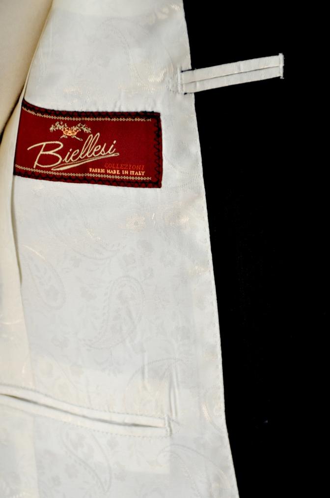 DSC0282 お客様のスーツの紹介-BIELLESI ネイビーヘリンボーン-