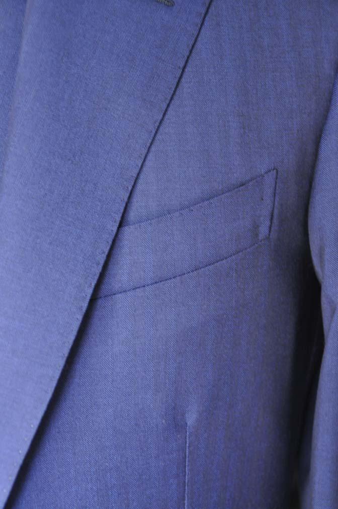 DSC02863 お客様のスーツの紹介-Biellesi ネイビーヘリンボーン スリーピース- 名古屋の完全予約制オーダースーツ専門店DEFFERT