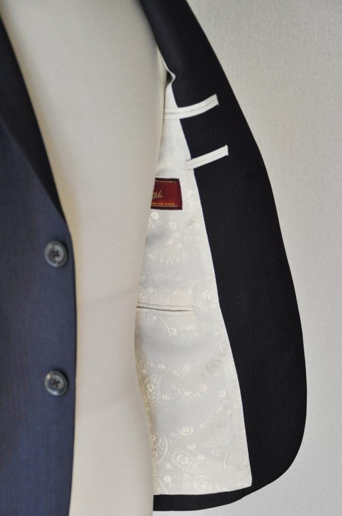 DSC02882 お客様のスーツの紹介-BIELLESI ネイビーヘリンボーン-
