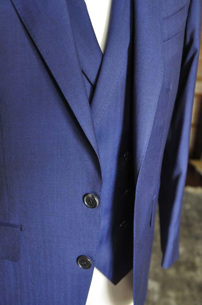 DSC02883 お客様のスーツの紹介-Biellesi ネイビーヘリンボーン スリーピース- 名古屋の完全予約制オーダースーツ専門店DEFFERT