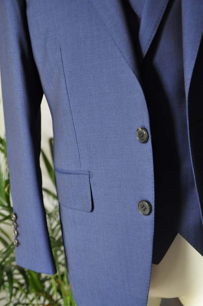 DSC02893 お客様のスーツの紹介-Biellesi ネイビーヘリンボーン スリーピース- 名古屋の完全予約制オーダースーツ専門店DEFFERT
