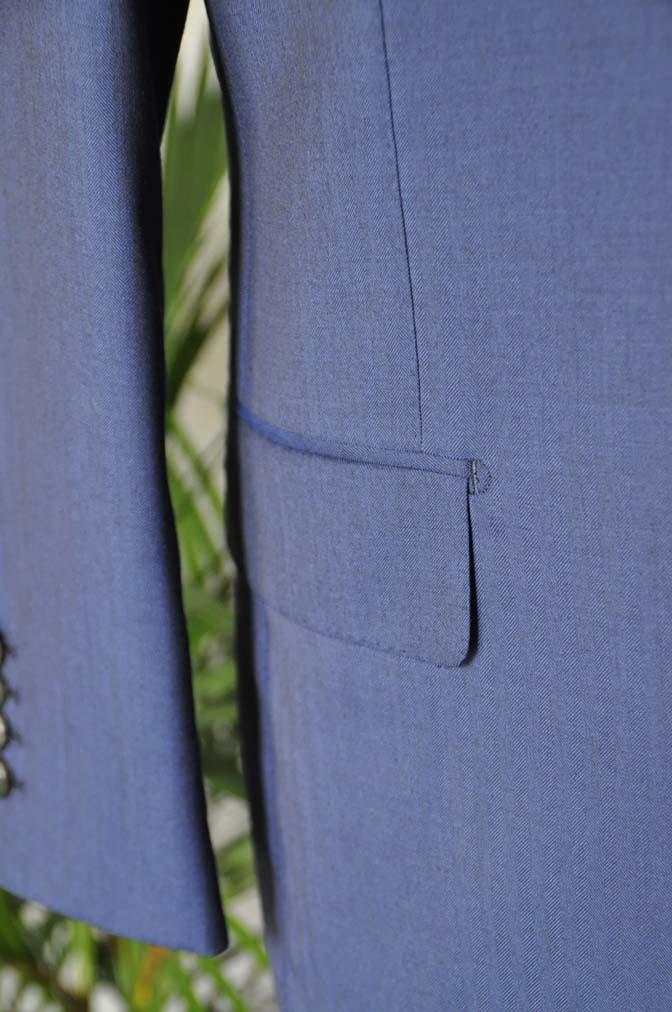 DSC0290 お客様のスーツの紹介-Biellesi ネイビーヘリンボーン スリーピース- 名古屋の完全予約制オーダースーツ専門店DEFFERT