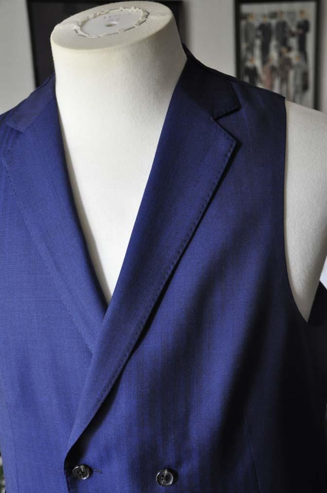 DSC02921 お客様のスーツの紹介-Biellesi ネイビーヘリンボーン スリーピース- 名古屋の完全予約制オーダースーツ専門店DEFFERT