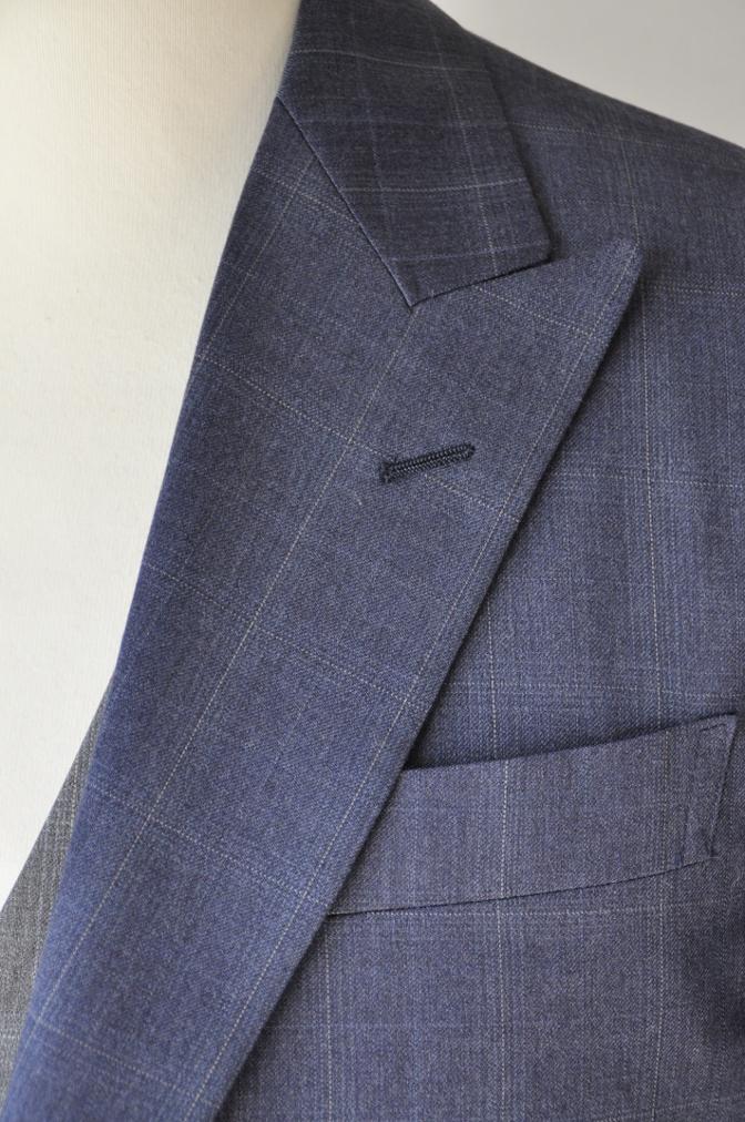 DSC0295 お客様のウエディング衣装の紹介- BIELLESI ネイビーチェックスーツ グレーチェックベスト- 名古屋の完全予約制オーダースーツ専門店DEFFERT