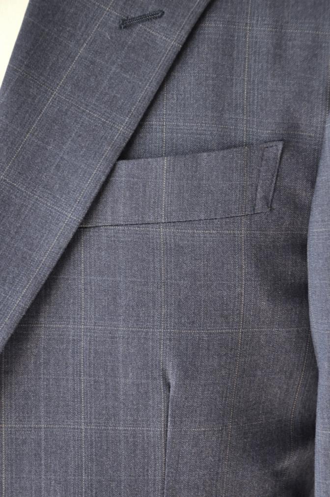DSC0296 お客様のウエディング衣装の紹介- BIELLESI ネイビーチェックスーツ グレーチェックベスト- 名古屋の完全予約制オーダースーツ専門店DEFFERT