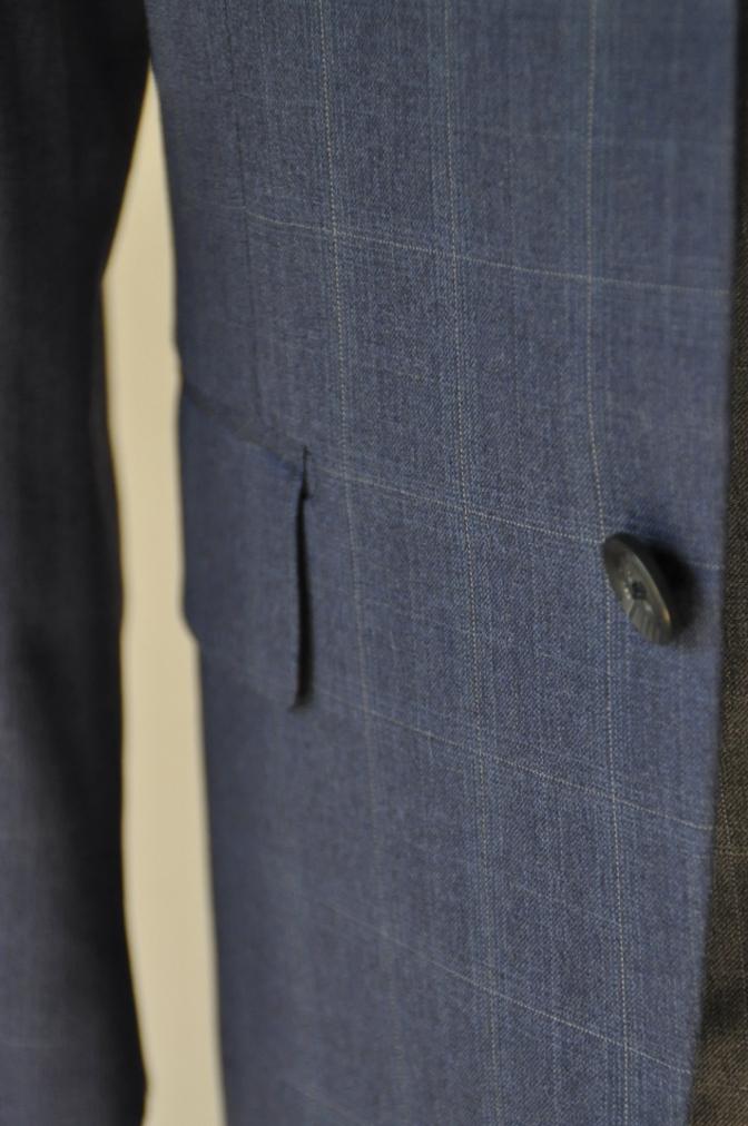 DSC0299 お客様のウエディング衣装の紹介- BIELLESI ネイビーチェックスーツ グレーチェックベスト- 名古屋の完全予約制オーダースーツ専門店DEFFERT