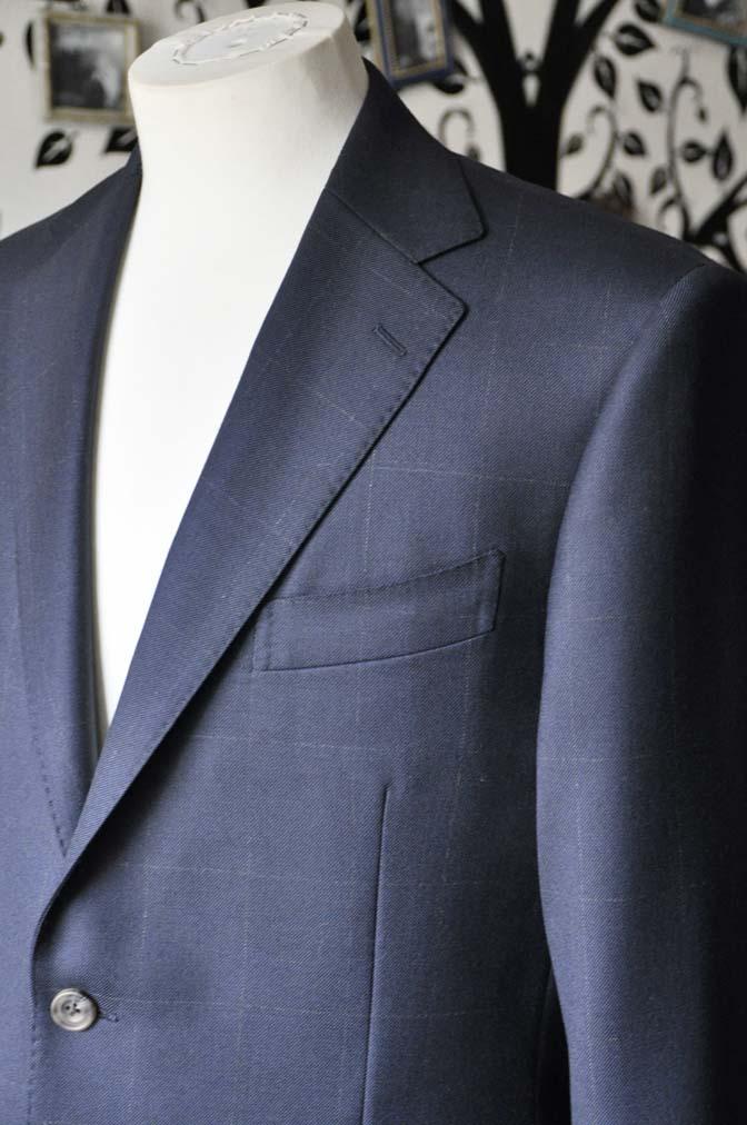 DSC0305-2 お客様のスーツの紹介-DORMEUIL ROYALネイビーウィンドペン スーツ-