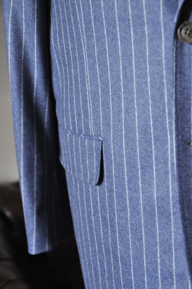 DSC0306-3 お客様のスーツの紹介- CANONICOネイビーフランネルストライプ スーツ-