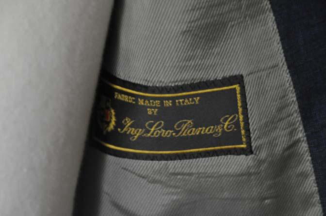DSC03112 お客様のスーツの紹介-LoroPiana ネイビーチェックスーツ -