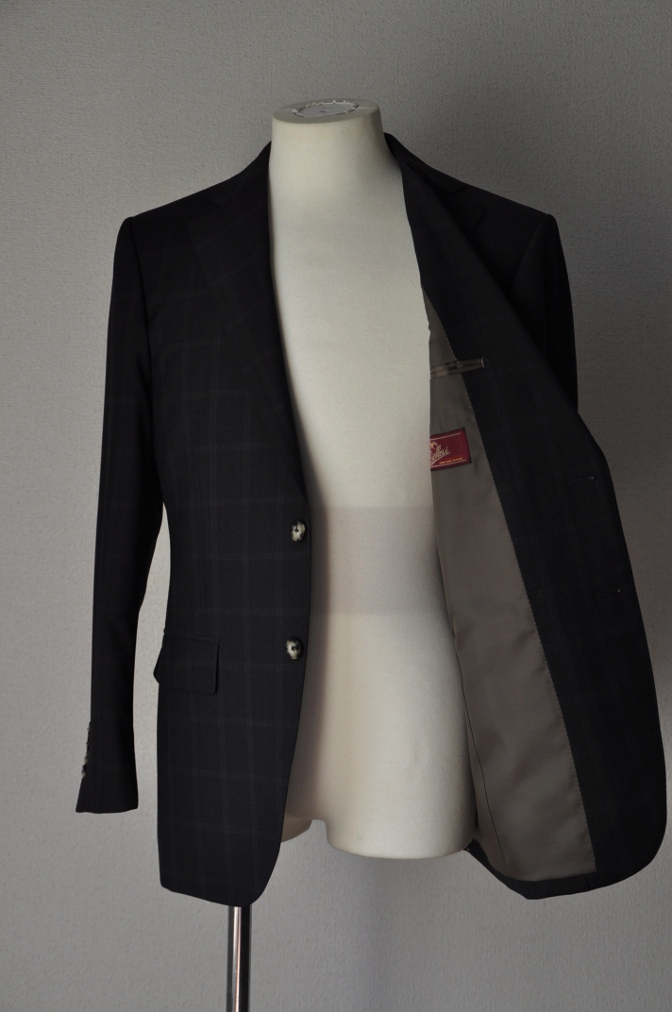 DSC03131 お客様のスーツの紹介-BIELLESI ブラウンチェック-