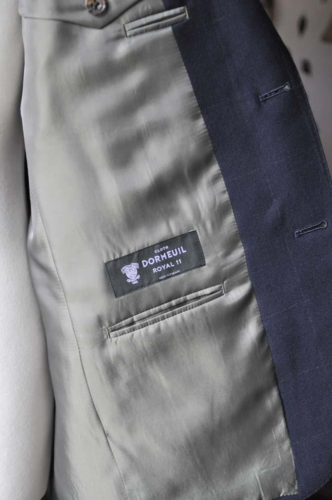 DSC0315-3 お客様のスーツの紹介-DORMEUIL ROYALネイビーウィンドペン スーツ-