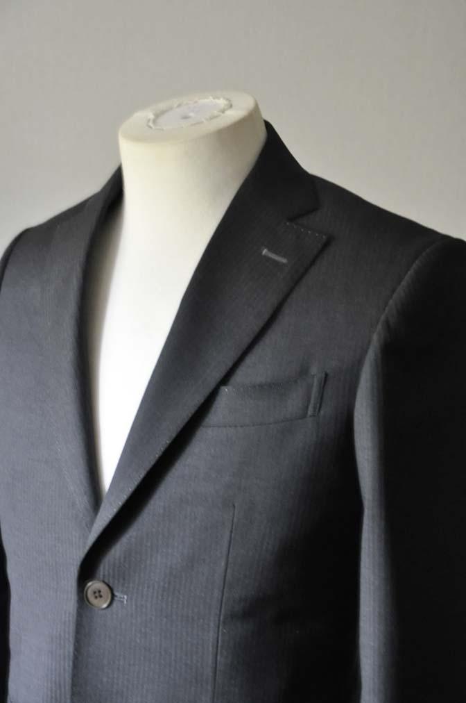 DSC0325-3 お客様のスーツの紹介- Biellesi チャコールグレーヘリンボーンスーツ-