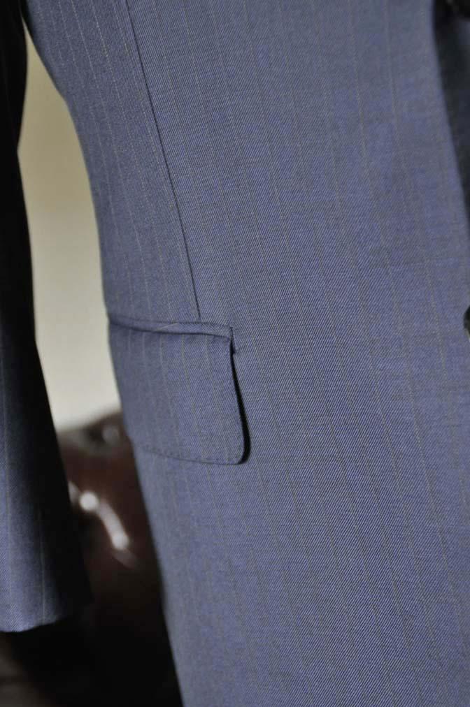 DSC0326-4 お客様のスーツの紹介- 御幸毛織 ネイビーストライプスーツ-