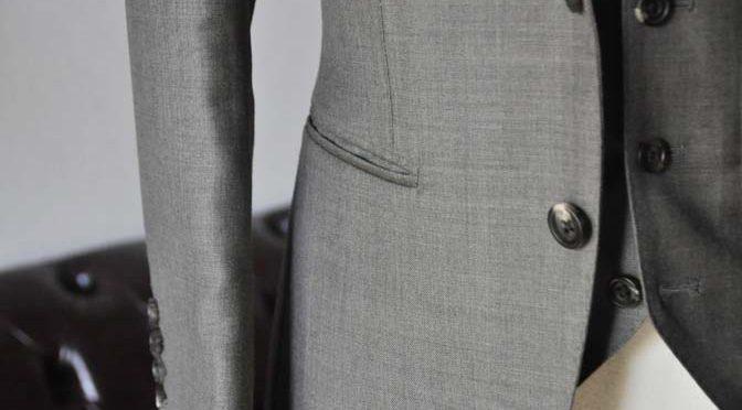 ジャケットの腰ポケットの種類 「両玉縁ポケット」