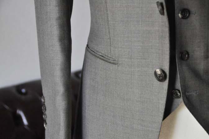 DSC0327-4 ジャケットの腰ポケットの種類 「両玉縁ポケット」 名古屋の完全予約制オーダースーツ専門店DEFFERT