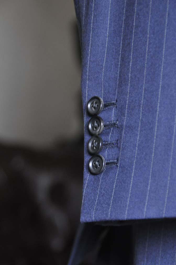 DSC0328-4 お客様のスーツの紹介- 御幸毛織 ネイビーストライプスーツ-