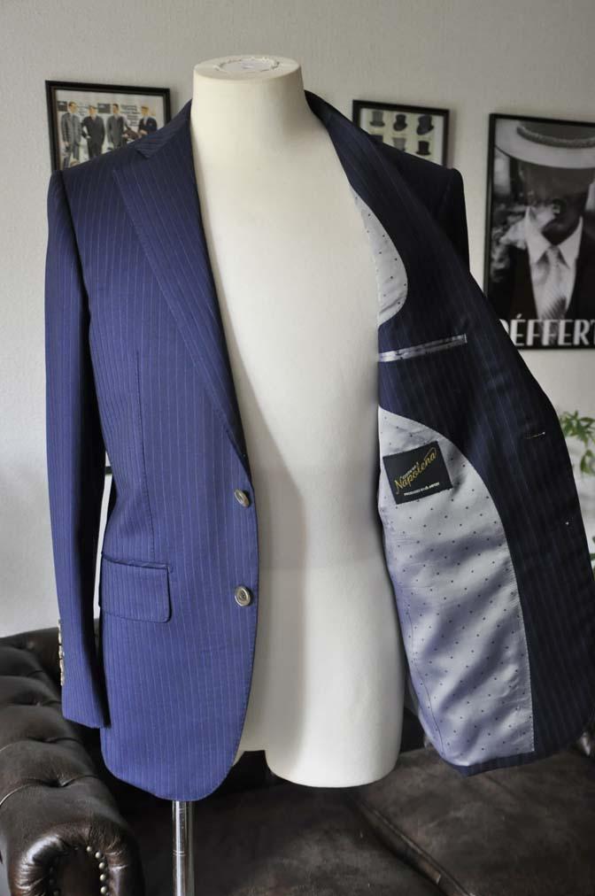 DSC03285 お客様のスーツの紹介-御幸毛織 NAPOLENA ネイビーストライプ-